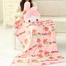 my melody fuzzy plush pillow cushion include blanket quilt blankets anime new
