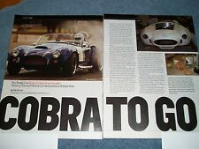 "Factory Five Racing Cobra Kit Car Info Article ""Cobra to Go"" Shelby"