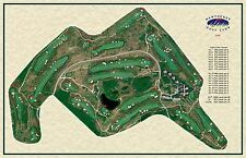 Nantucket Golf Club, 1998-Rees Jones- a Vintage Golf Course Map print