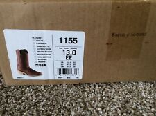 RED WING Style 1155 PECOS Work Pull On Western Boots Size 13 EE Factory Seconds