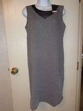 women's maternity dress (black/white polka dots) size M by Mom & Co. NWT