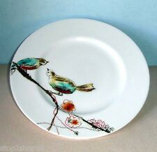 "Lenox CHIRP Simply Fine Salad Accent Luncheon Plate 9.25"" Birds on Branch New"