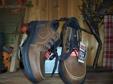 WRANGLER MENS ANKLE HIGH DRESS SHOES SIZE 8 MEMORY FOAM BROWN CASUAL BOOTS NEW