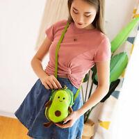 Women Cartoon Avocado Plush Crossbody Shoulder Bags Purse Satchel Handbags
