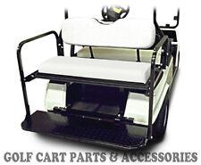 Golf Cart Rear Seat Kit - Flip Seat Kit EZGO TXT (1994-2013) WHITE CUSHIONS