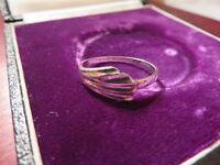 Besonderer 925 Silber Ring Modern Designer Flügel Flosse Jugendstil Art Deco Top