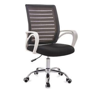Schreibtischstuhl Kinder und Jugend Drehstuhl Stoff Stuhl Bürostuhl Schwarzweiss