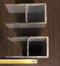 2x Alu-Hohlkammer-Einfassungen Bordwandprofile Planenaufbau