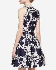 $2790 Oscar de la Renta Blossom Floral Print Jacquard Fit/Flare A Line Dress 4