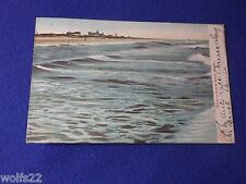 Post Card ~ Waves on Ormond Beach Fl ~ with Stamp ~ Oct 1905