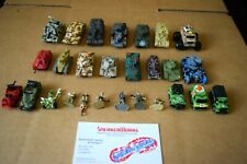 Vintage Galoob Micro Machines Lot Of 27 Military Tanks Trucks Action Figures