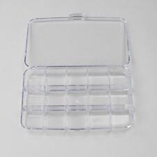 CREATIVE CLEAR PLASTIC JEWELRY RING DISPLAY ORGANIZER BOX HOLDER EARRING STORAGE