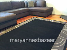 Black Grey Floor Rug Modern Extra Large  330 x 240 FREE DELIVERY 1349-H11