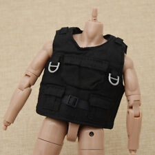 """1/6 Scale Black Vest Body Armor Jacket For 12"""" Action Figure Toys Accessories"""