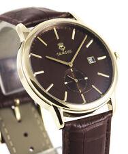 Cavadini -zentralsekunde (Petite Second) Gold Plated Men's Watch Model 2018