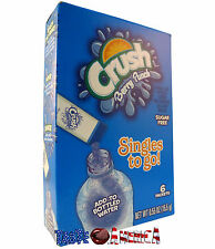 Crush Berry Punch Singles To Go 6 Sachet Drink Mix 15.5g Just Add To Water