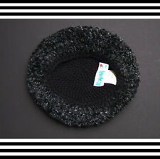 ENDING SOON: -$9 NEW One-size Banash of Boston Black & Silver Wool-blend Beret