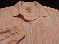 L.L. Bean Womens Small Long Sleeve Button-Down Multicolor Striped Shirt