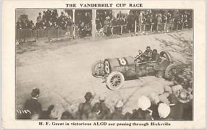 Antique Postcard: 1910 Vanderbilt Cup Race Hicksville