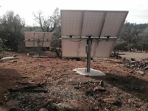 """Solar panel pole mount/holds 6 large panels/fits a 6"""" pipe or post. Bracket only"""