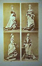 PLANCHE CALAVAS 1880 4 photos COSTUMES THEÂTRE femme