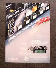 [GCG] L217- Advertising Pubblicità -1984- PHILIPS HI-FI CAR CON AUTO STORE