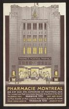 Postcard MONTREAL Quebec/CANADA  Pharmacie Drug Store Artist Concept 1930's?