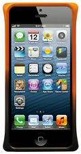 LavoicUSA Apple iPhone 5 5S Diamond-Cut Dual Color Aluminum Case - Black &Orange