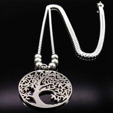 Halskette 70cm collier Edelstahl Baum des Lebens Lebensbaum Glücksbringer Damen