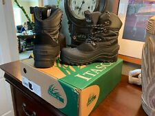Itasca Men Size 10 Thinsulate 3M Winter Boots BLACK Leather Upper Padded Collar