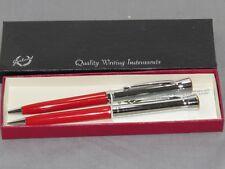 Vintage HALLIBURTON Services GARLAND Pen 2 Piece Set NIB MINT rare! pencil