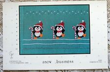 ~  LITTLE MEMORIES SNOW BUSINESS HEIRLOOM SEWING SMOCKING DESIGN PLATE   ~