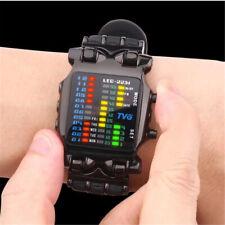 Men LED Bracelet Casual Watch Stainless Steel Luxury Binary Wristwatch