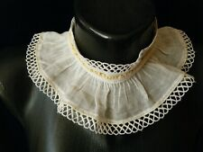 Vtg Collar high neck line versatile primitive muslin &trim h.made &design Europe