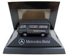 Mercedes-Benz Transporter 100 D schwarz Herpa in PC Vitrine 1:87 H0 OVP [K1]