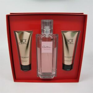 HOT COUTURE by Givenchy 3 Pcs Set: 3.3 oz EDT Spray, 2.5 oz Lotion & Shower Gel