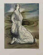 "Henry Moore ""Kneeling Woman"" Original Lithograph S/N"