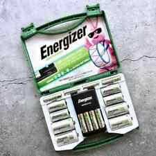 Energizer Rechargeable 10 Batteries & Charger Set - 6 AA / 4 AAA / Adapters C D