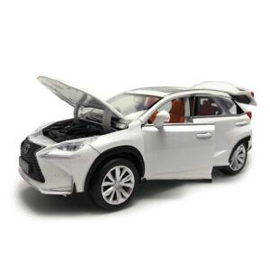 1:32 Lexus NX 200T SUV Model Car Diecast Toy Vehicle Sound Light White Kids Gift