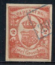 Oldenburg stamps 1861 MI 13  CANC  VF