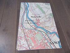 GRAND PLAN MANUSCRIT 1890 NANCY MALZEVILLE  Meurthe-et-Moselle