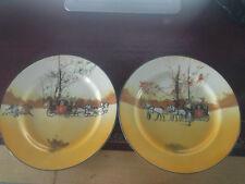 Pair of Royal Doulton Seriesware Coaching Days Plates
