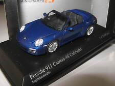 1:64 PORSCHE 911 Carrera 4s Cabrio 2008 Blue Metallic 640066470 Minichamps OVP