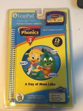 LeapPad Leap Frog A Day at Moss Lake Phonics Lesson 3 Cartridge and Book NEW