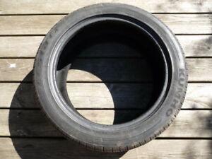 Used 245/45ZR18 100W XL Kumho Ecsta Platinum 100W Tire Tread 6/32 Patch