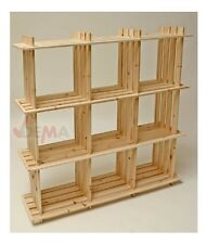 Etagère en bois - 9 casiers - pin massif D15025