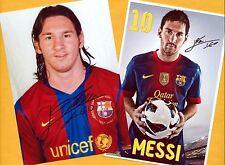 Lionel MESSI - 2 SUPER AK - Bilder (2) Print - Copies + AK Fußball - WM signiert