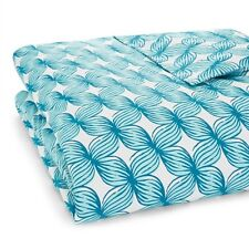 "NWT $450 JR by John Robshaw Jamali Duvet Cover King 110"" x 92"" turquoise floral"