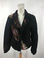 Wilsons Leather Women's Black Maxima Velvet Embroider Blazer Jacket Size M