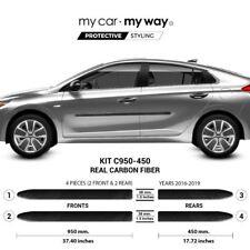 (Fits) Hyundai Ioniq 2016-2019 Real Carbon Fiber Body Side Molding Cover Trim Do